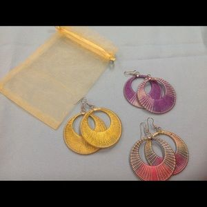 Dream catcher style earrings (3 pairs)
